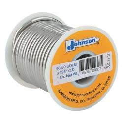 Wire Solders, Spool, Solid Core, 1/8 in, 50% Tin, 50% Lead 348-505061