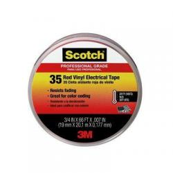 3M 35 Tape 3/4in x 66ft Red