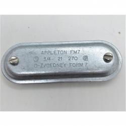 Appleton 270 3/4in FM7 Steel Cover