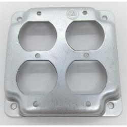 Appleton 8371N 4in Square Double Duplex Box Cover