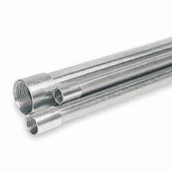 1/2in x 10ft Galvanized Conduit with Coupling