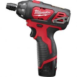 Milwaukee 2401-22 M12 1/4in Hex Screwdriver Kit Contains Tool  Charger  and (2) Batteries