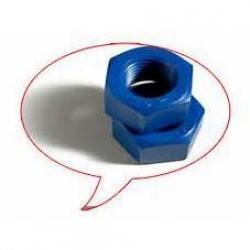 1/2in-13 2H Hex Nut Stand-Cote-1 Teflon Fluoropolymer Coated