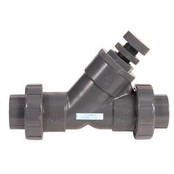 Hayward 3in PVC Spring-Loaded True Union Y-Check Valve with Threaded End Connection and FPM O-Ring Seal SLC10300TU