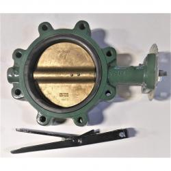 Stockham 8in Ductile Iron Lug Style Butterfly Valve with Bronze Disc and EPDM Seats LD-712BS3E