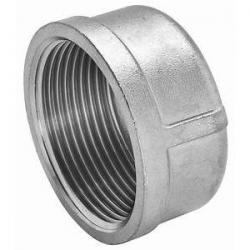1/2in 316 SS Threaded Cap - Stainless Steel M616-08