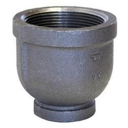 1-1/2in x 1in Black 150lb Threaded Reducing Coupling