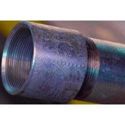 1-1/4in Standard Schedule 40 Black Steel Pipe Threaded/Coupled A-53 Continuous Weld