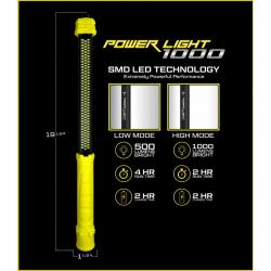 Power Port Products Rechargeable Portable LED Work Light 1000 Lumen 122SMD LED - LED-1000