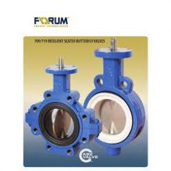 ABZ 2in 709 Series PTFE Lined Butterfly Valve 888 Trim Cl 125 Wafer Cast Iron Body PFA Disc 17-4 Stem with PTFE/EPDM Seat